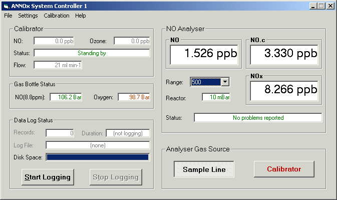 Data Logger & System Controller Software